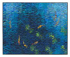 Koi Shimmer #8 by Tim Harding (Fiber Wall Hanging)
