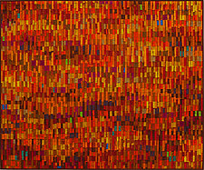 Vermillion Vibrations by Tim Harding (Fiber Wall Art)