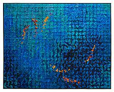 Koi Grid # 2 by Tim Harding (Fiber Wall Hanging)