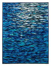 Blue Sea, Shining Sea by Tim Harding (Fiber Wall Hanging)