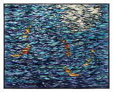 Blue Water Koi by Tim Harding (Fiber Wall Hanging)