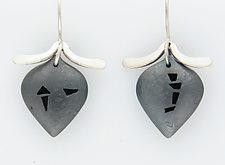 Small Petal Earrings with Bars by Barbara Bayne (Silver Earrings)