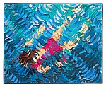 Swimmer by Tim Harding (Fiber Wall Hanging)