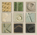 Desert Canyon Quilt Wall Tiles by W. Mitch Yung (Ceramic Wall Sculpture)