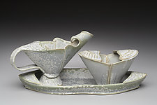 Toreador Creamer, Sugar & Tray Set by Marion Angelica (Ceramic Serving Set)