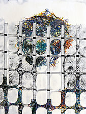 Fences and Nests 11 by Jeanne Williamson (Mixed-Media Painting)