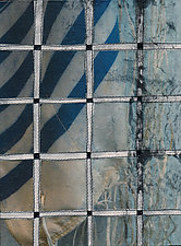 Tallis and Fence #6 by Jeanne Williamson  (Mixed-Media Wall Hanging)