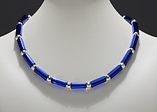 Cobalt Tube Bead Necklace by Eloise Cotton (Art Glass Necklace)