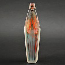 Fire Series Bottle by Steven Main (Art Glass Bottle)