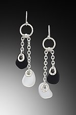 Baroque Flat Bead Chain Earrings by Eloise Cotton (Art Glass Earrings)