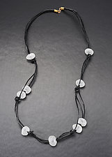 Baroque Bead Leather Necklace by Eloise Cotton (Art Glass Necklace)