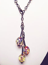 Abstract Bead Necklace by Eloise Cotton (Silver & Glass Necklace)