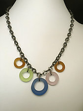 Rings Necklace II by Eloise Cotton (Silver & Glass Necklace)