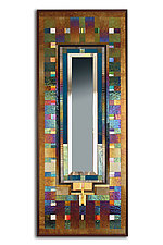 Kind of Blue by Thomas Meyers (Art Glass Mirror)