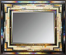 Celadon Chord by Thomas Meyers (Art Glass Mirror)