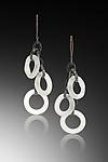 Rings Earrings by Eloise Cotton (Art Glass Earrings)
