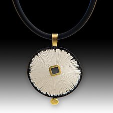 Sand Dollar Pendant by Susan Mahlstedt (Gold & Silver Necklace)