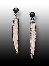 Textured Earrings by Susan Mahlstedt (Gold & Silver Earrings)