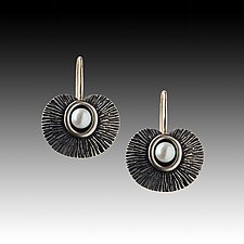 Seed Pod Earrings II by Susan Mahlstedt (Silver & Pearl Earrings)