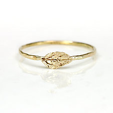 Leaf Ring by Melanie Casey (Gold Ring)