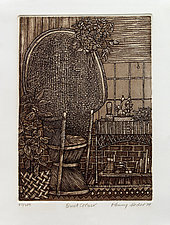 Wicker Corner by Penny Feder (Etching)