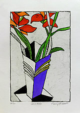 Deco Reds by Penny Feder (Etching)