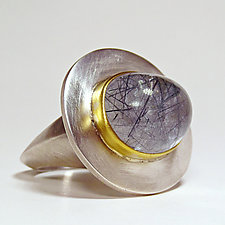 Mystic Ring by Eva Seid (Gold, Silver & Stone Ring)