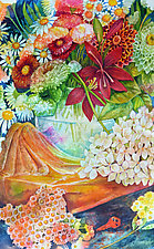 Summer Bouquet I by Helen Klebesadel (Watercolor Painting)