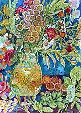 Summer Bouquet III by Helen Klebesadel (Watercolor Painting)
