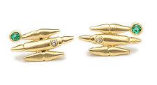 Metro Earrings by Alison Antelman (Gold & Silver Earrings)
