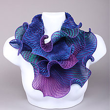 Infinity Scarf in Purples and Blues by Min Chiu  and Sharon Wang  (Silk Scarf)