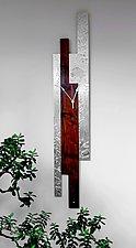 Black Walnut Ocean Wall Clock by Evy Rogers (Wood & Metal Clock)