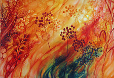 Prairie Fire IV by Helen Klebesadel (Watercolor Painting)
