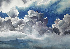 August Clouds by Helen Klebesadel (Watercolor Painting)
