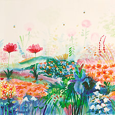 Garden of Sun & Bees II by Mike Smith (Giclee Print)