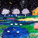 Quiet Norwegian Nights by Mike Smith (Giclee Print)
