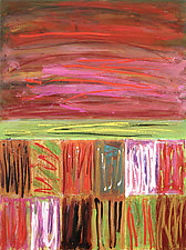 Border by Betty Green (Mixed-Media Painting)