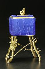 Sea Turtle Box by Georgia Pozycinski and Joseph Pozycinski (Art Glass & Bronze Sculpture)