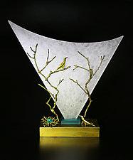 Nightwatch by Georgia Pozycinski and Joseph Pozycinski (Art Glass & Bronze Sculpture)