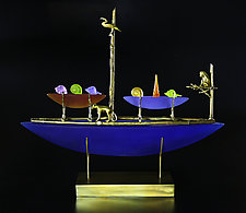 Voyagers by Georgia Pozycinski and Joseph Pozycinski (Art Glass & Bronze Sculpture)