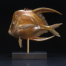 Lookdown Fish by Georgia Pozycinski and Joseph Pozycinski (Metal Sculpture)