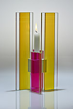 Deco Candle Holder by Sidney Hutter (Art Glass Candleholders)