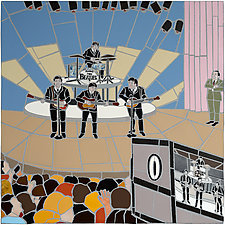 Beatles on the Ed Sullivan Show by Jonathan I. Mandell (Giclee Print)