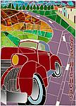 Lost Highway by Jonathan I. Mandell (Mosaic Wall Sculpture)