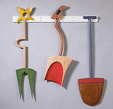 You Dig by Erik Wolken (Wood Wall Sculpture)