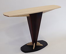 Bamboo Console Table by Erik Wolken (Wood Console Table)