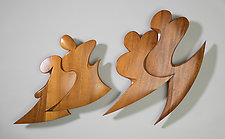 Together by Erik Wolken (Wood Wall Sculpture)