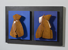 Together Again by Erik Wolken (Wood Wall Sculpture)
