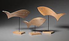 One Fish Two Fish by Erik Wolken (Wood Sculpture)