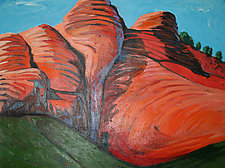 Arizona Cliffs by Bruce Klein (Acrylic Painting)